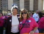 Pro-choice activist Kat Sabine (right) poses with state Sen. Paula Aboud (left).